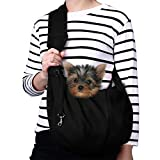 TOMKAS Small Dog Cat Carrier Sling Hands Free Pet...