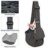 SlowTon Pet Sling Carrier, Comfortable Hard Bottom...