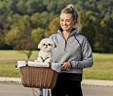 PetSafe Happy Ride Wicker Bicycle Basket for Dogs...