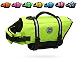 Vivaglory Dog Life Jacket Size Adjustable Dog...