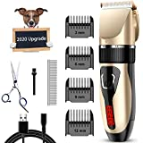 Comsmart Dog Clippers, Upgraded Dog Grooming...