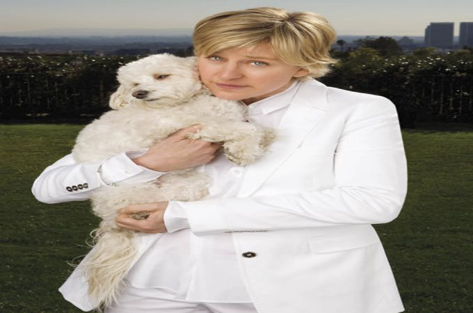 Ellen DeGeneres and Wolf Celebrities Pets List